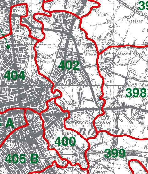 Tonge with Haulgh Map
