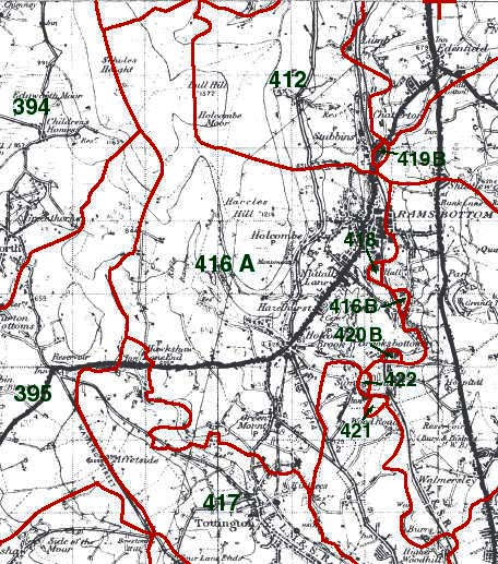 Tottington Higher End Map