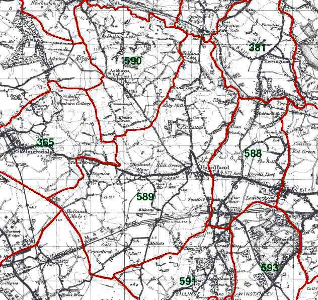 Upholland Map