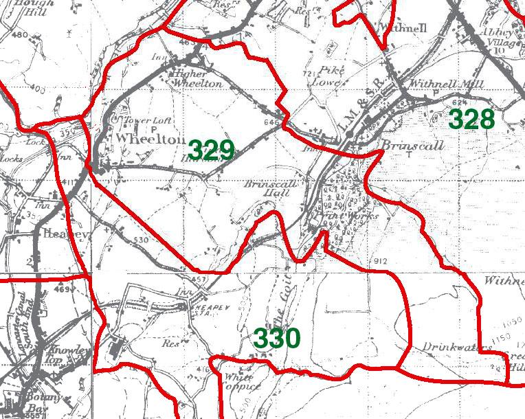 Wheelton Map