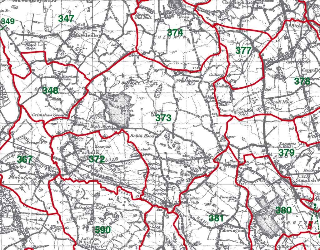 Wrightington Map