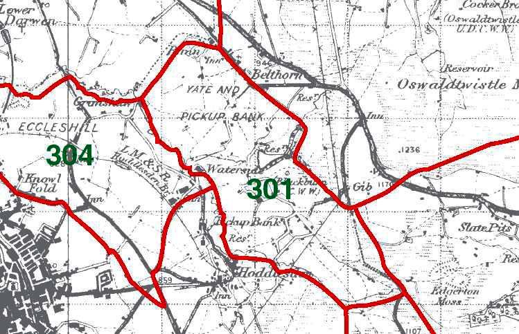 Yate with Pickup Bank Map