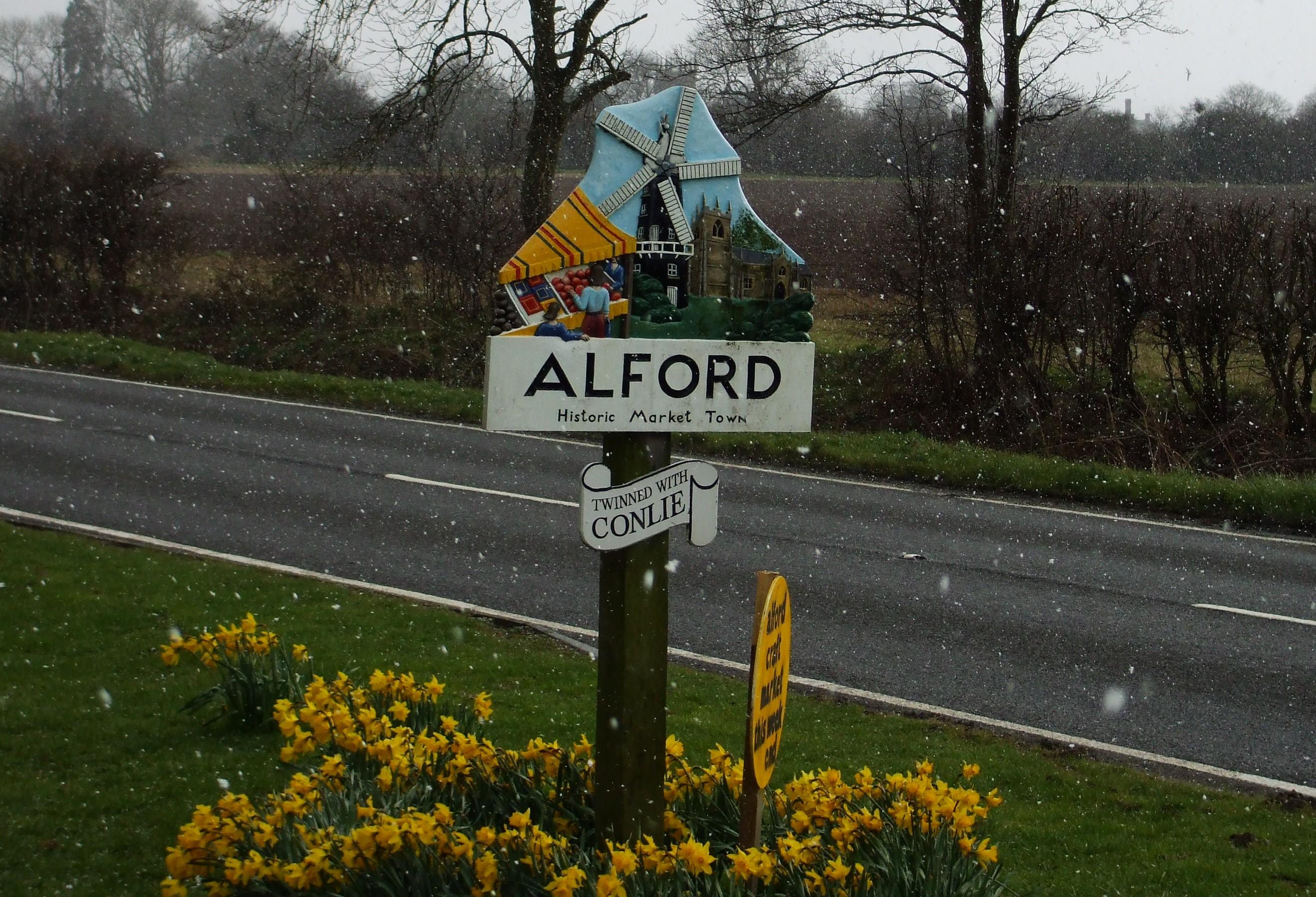 Alford village sign