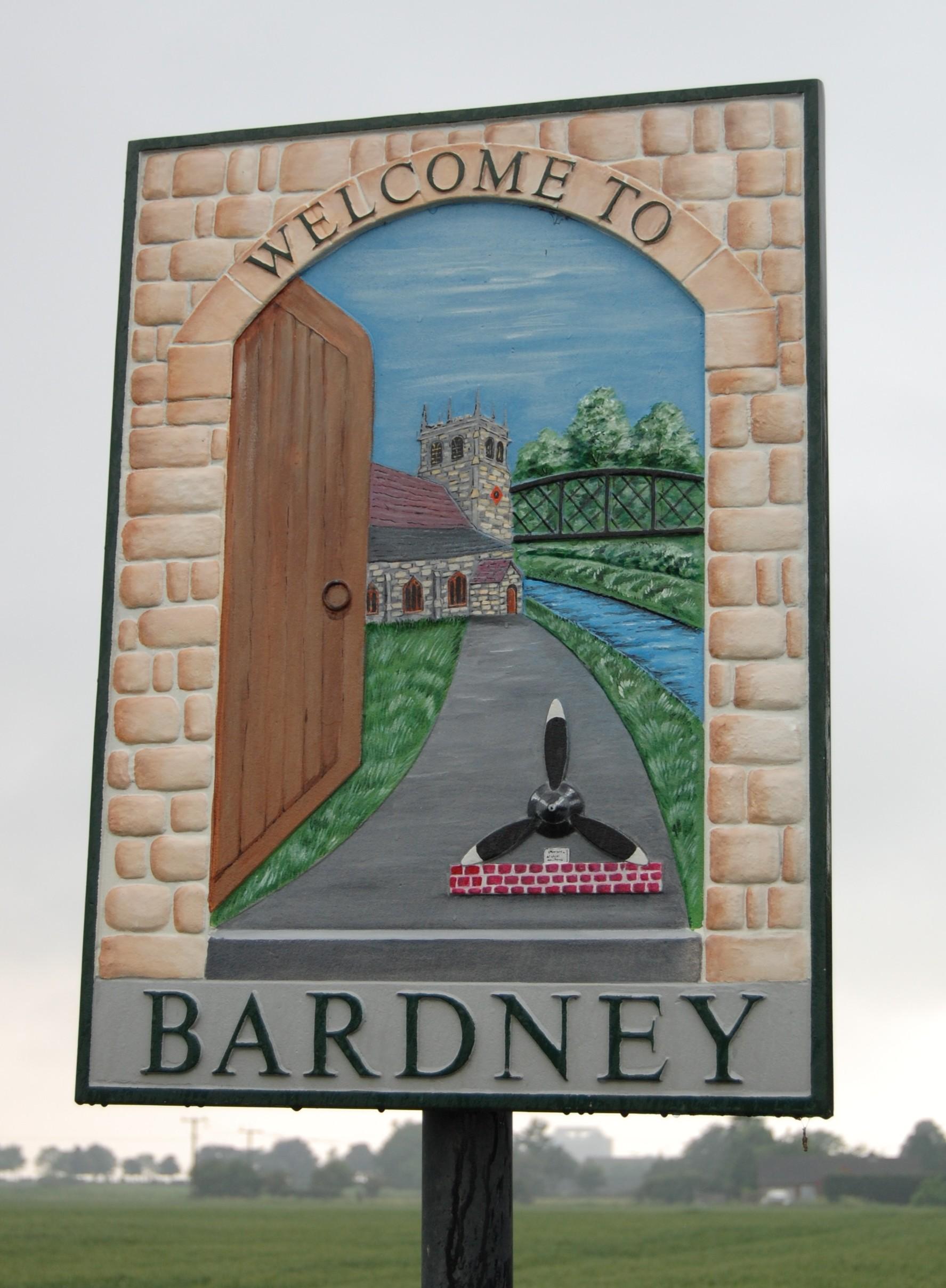 Bardney village sign closeup