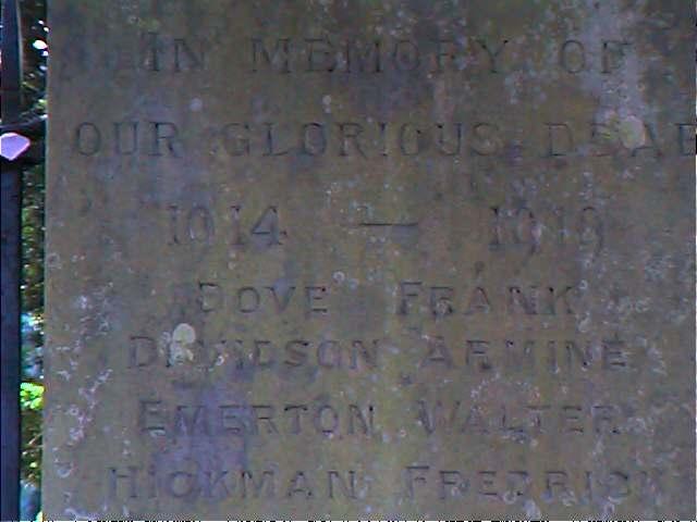 Memorial close up