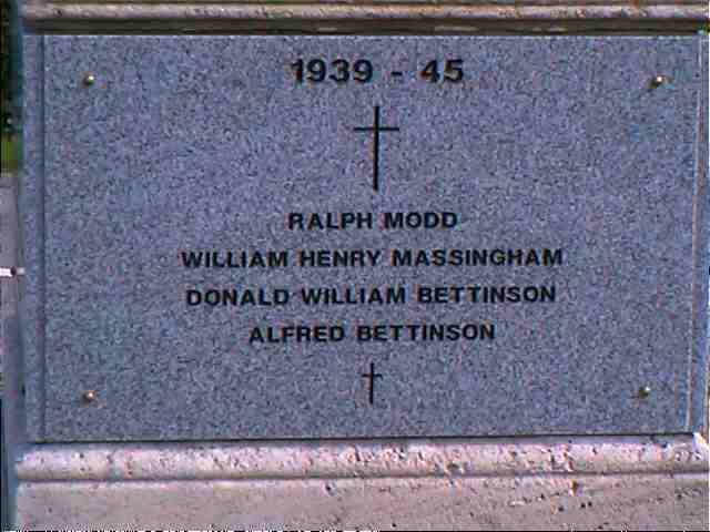 WW2 plaque