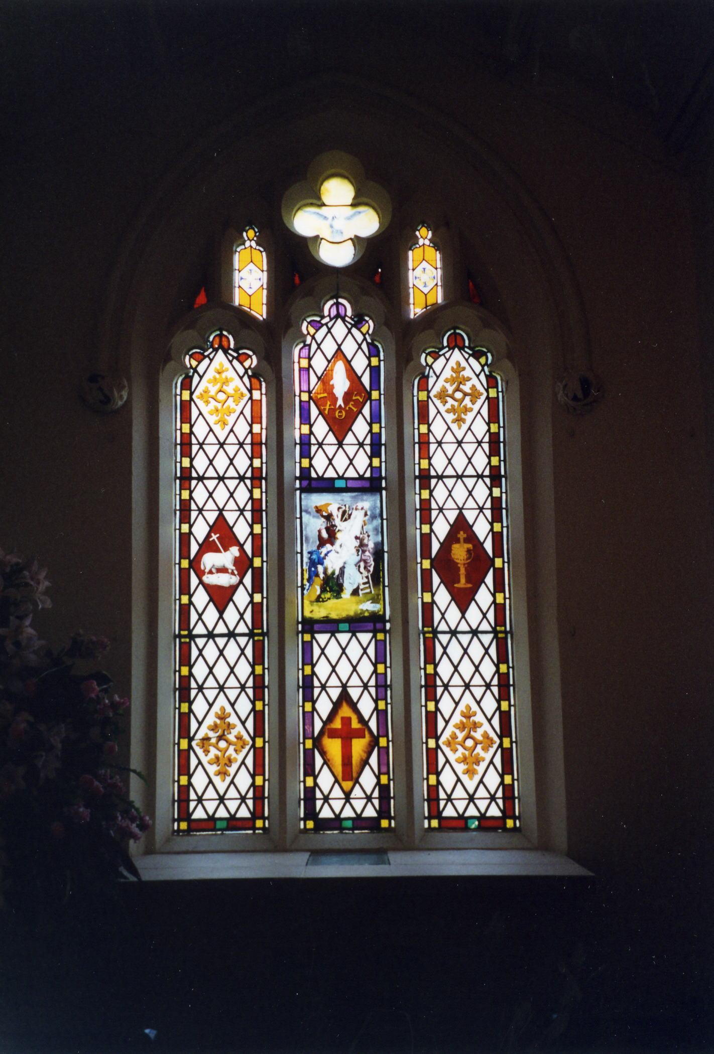 Biscathorpe St. Helen church window