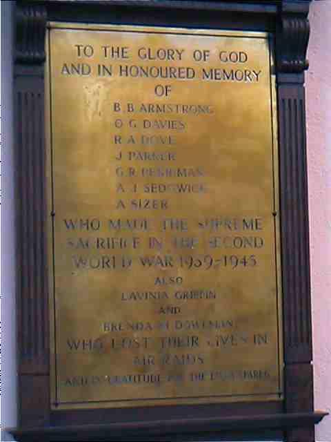 Centenary Plaque WWII