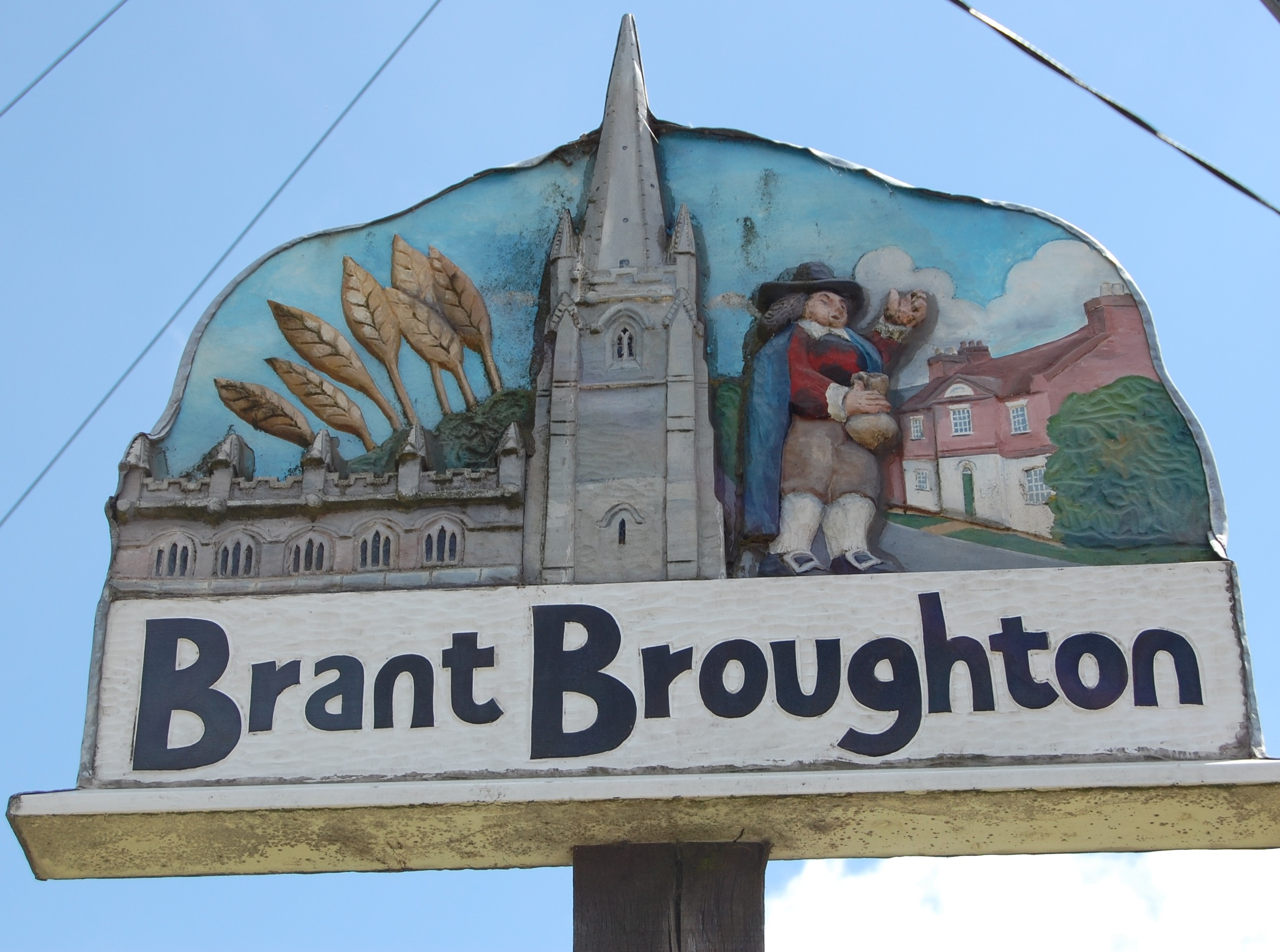 Brant village sign closeup