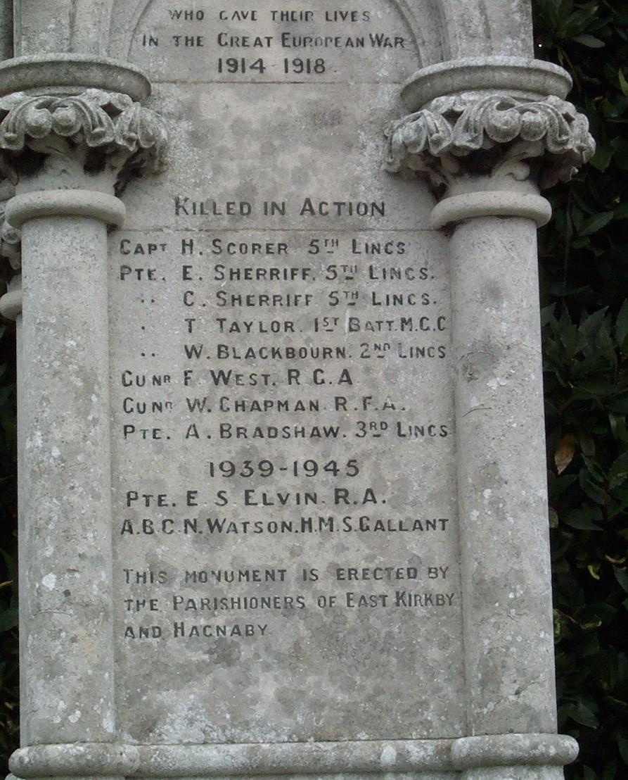 East Kirkby Memorial