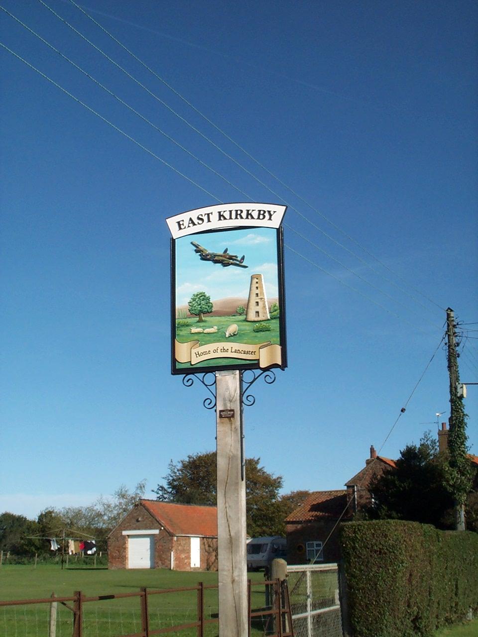 East Kirkby village sign 2