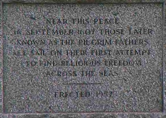 Pilgrim plaque