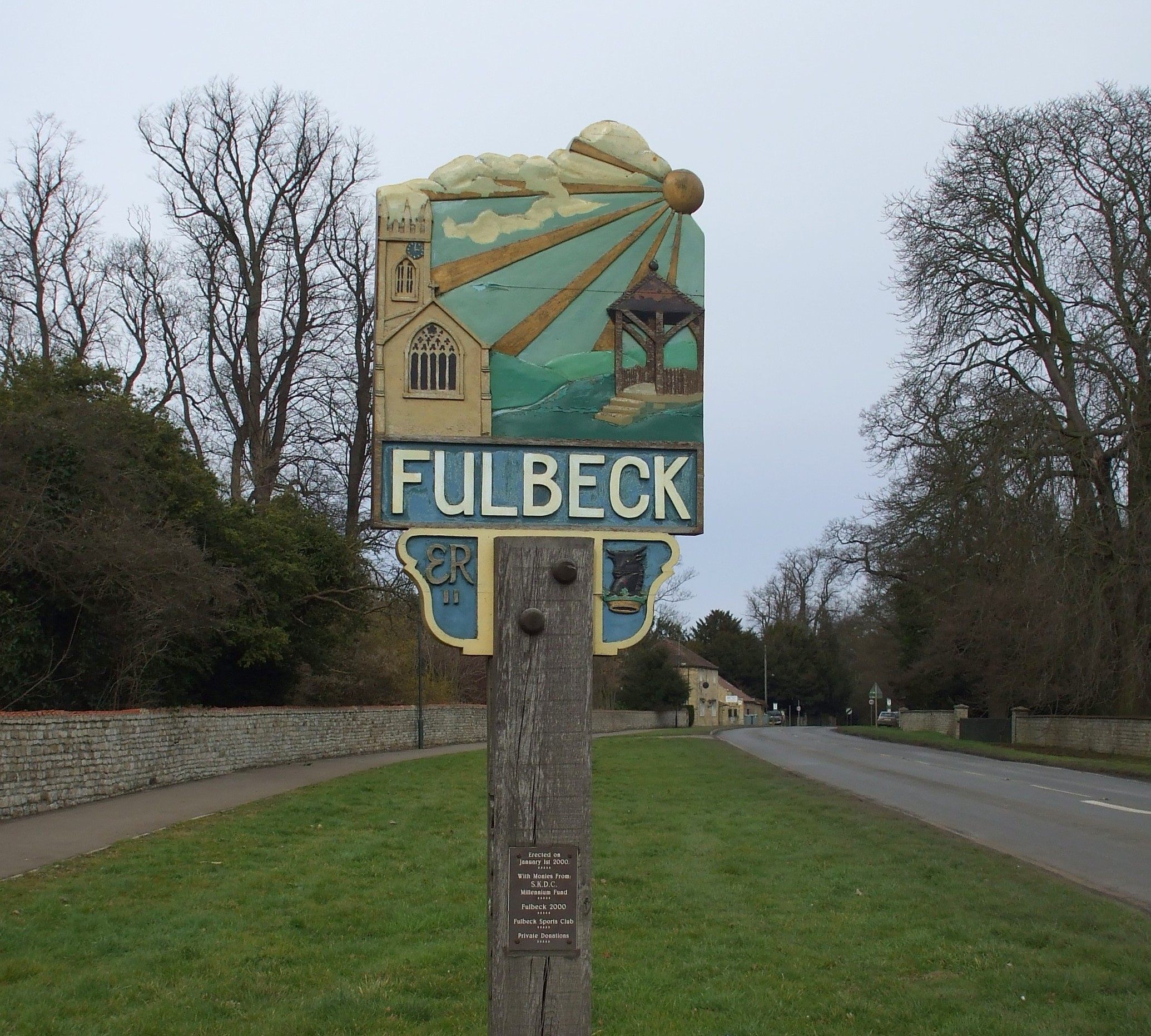 Fullbeck village sign