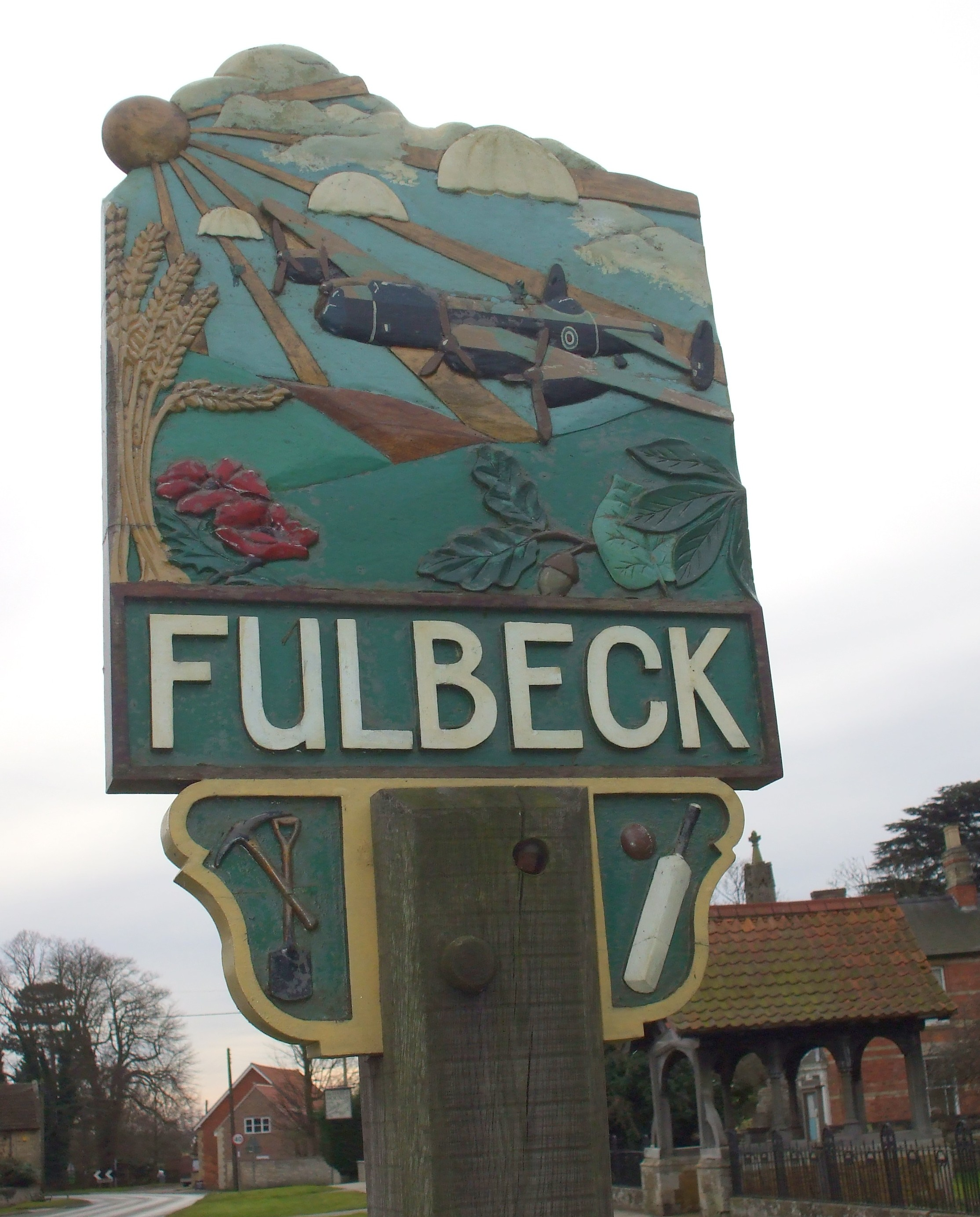 Fullbeck village sign obv