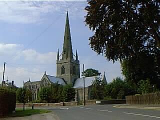 Gosberton church - distant