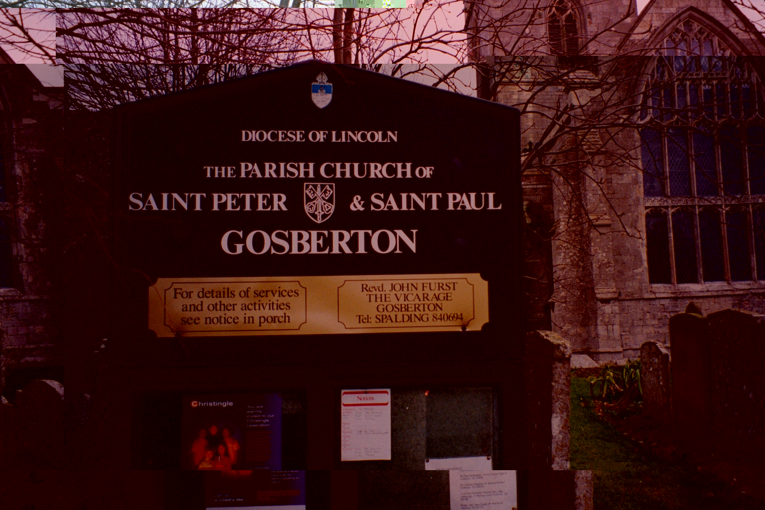Gosberton church sign