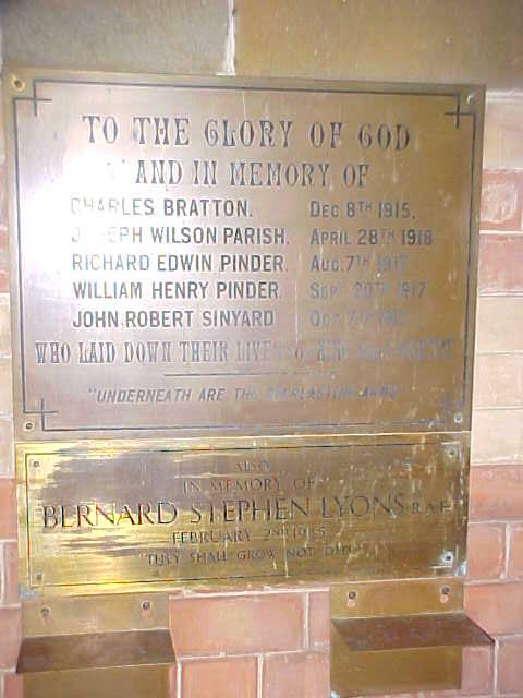 War plaque