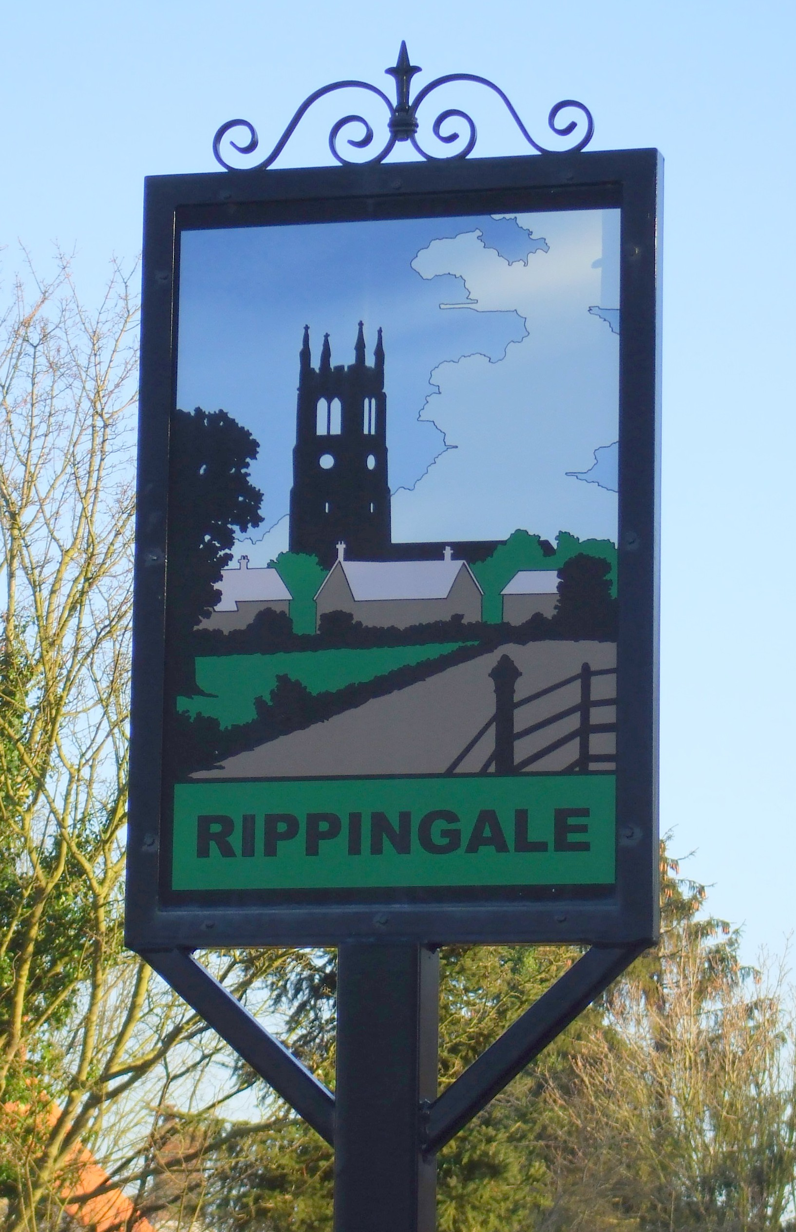 Rippingale village sign