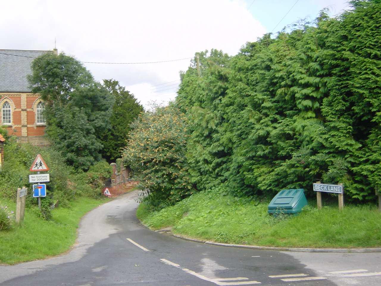 Beck Lane corner B