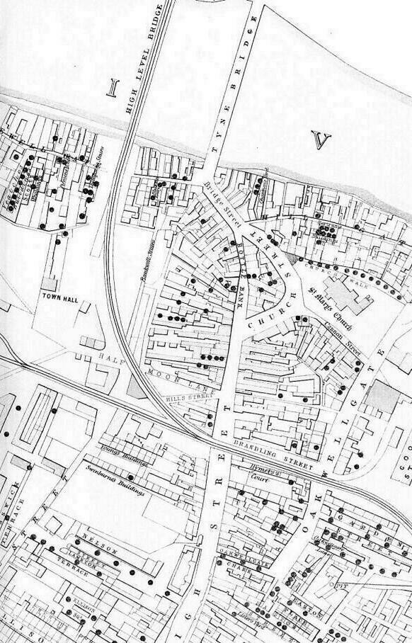 Gateshead Cholera Map Part 2