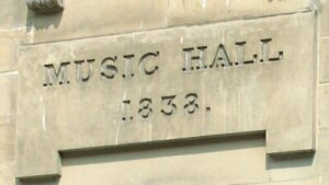 Date Stone on the Nelson Street Music Hall