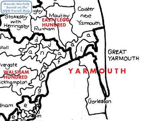 Parish Map for Great Yarmouth