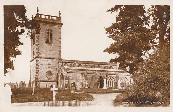 c1920 postcard view of St Nicholas