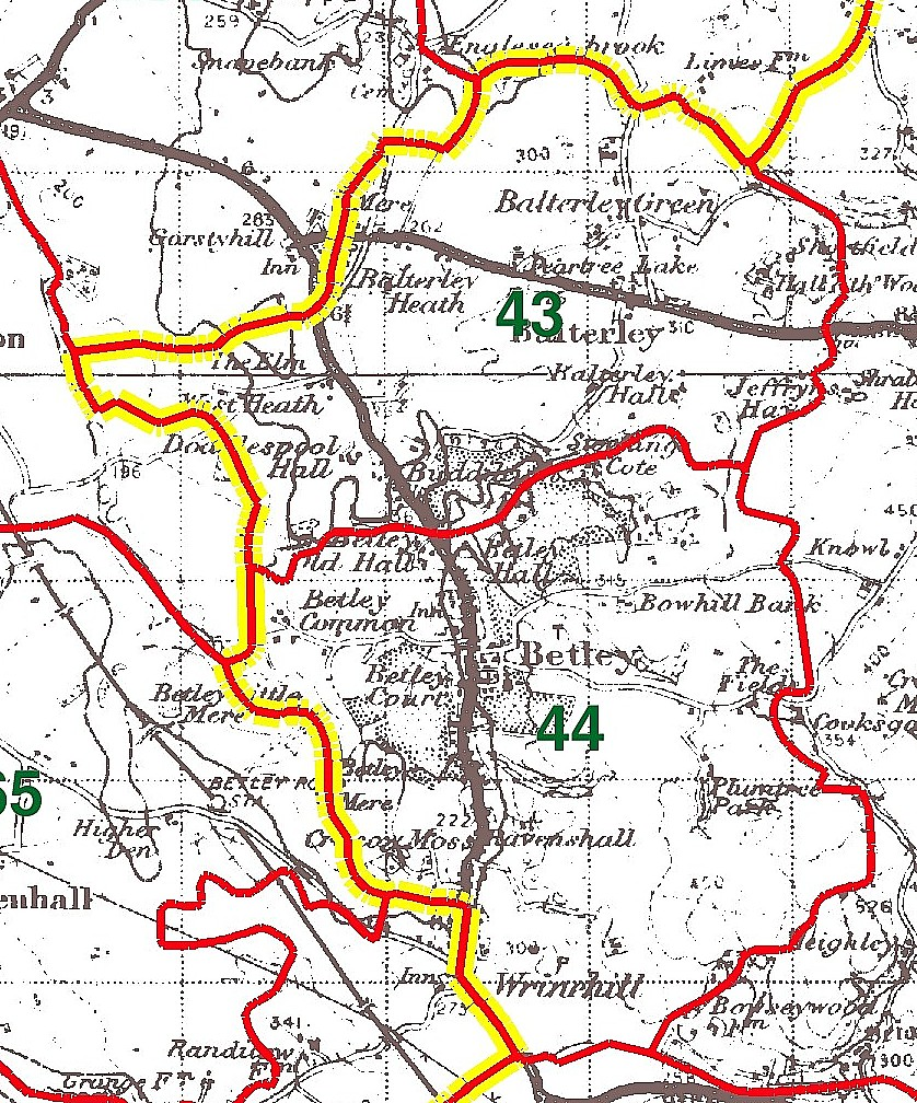 Betley Parish Map