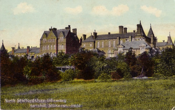 Postcard of North Staffordshire Infirmary c1915