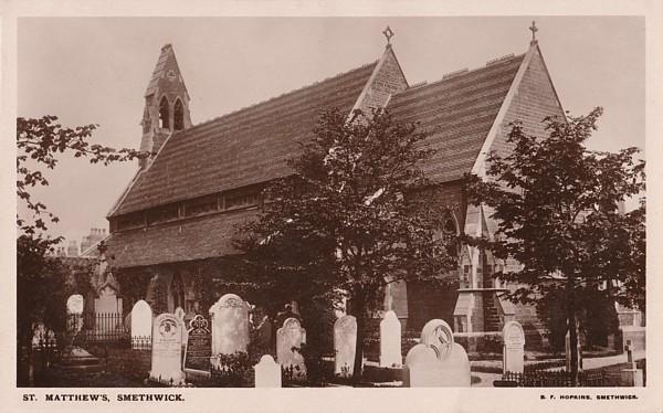 c1912 postcard of St Matthew