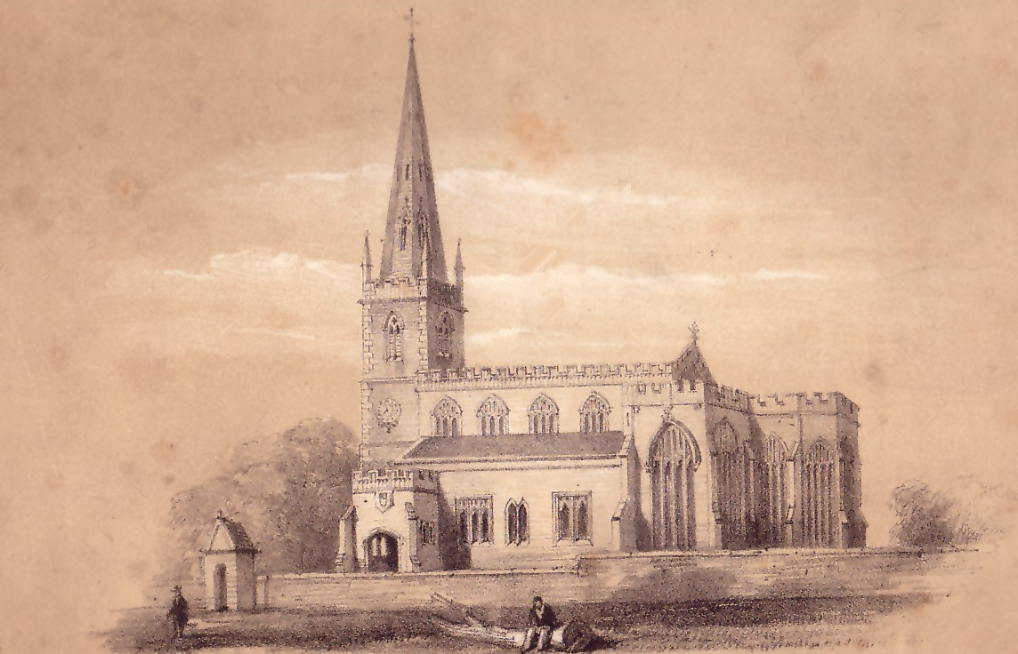 view of St Bartholomew's Church pre-1827