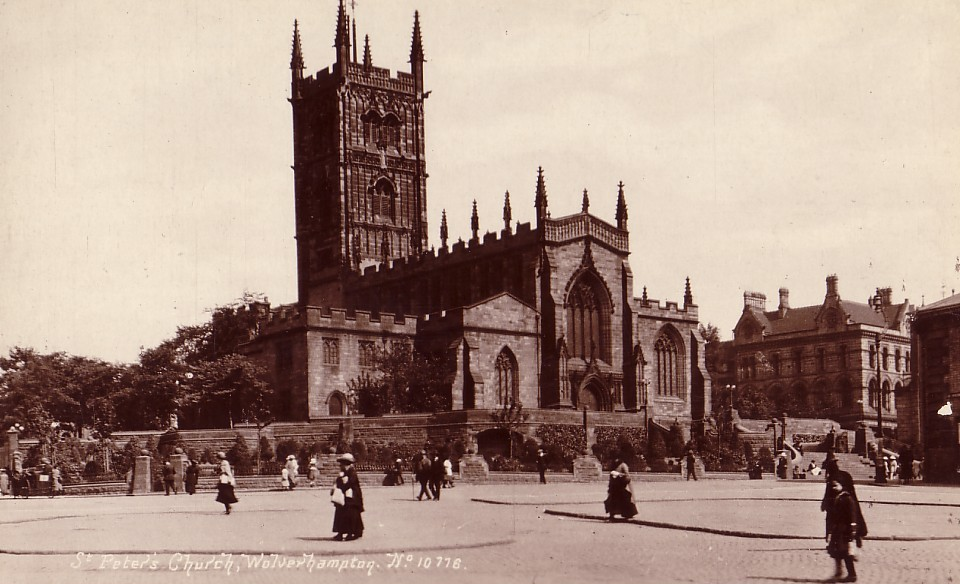Undated postcard view of St Peter's Church