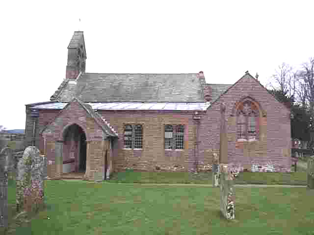 Click here forpicture of St Cuthbert's church by Les Strong