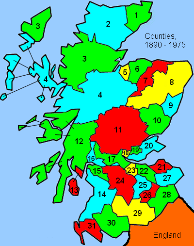 Scottish Counties 1890-1975