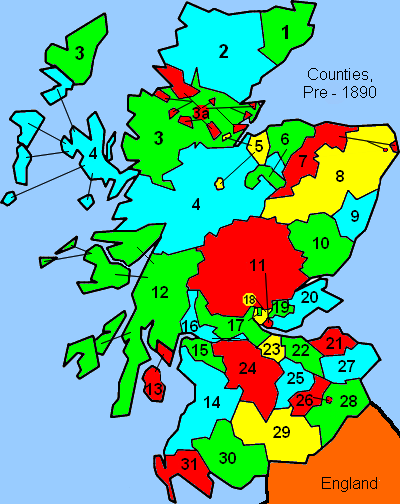 Scottish Counties pre 1890