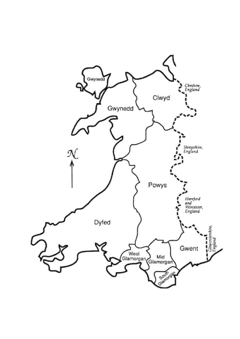 Welsh counties 1974/96