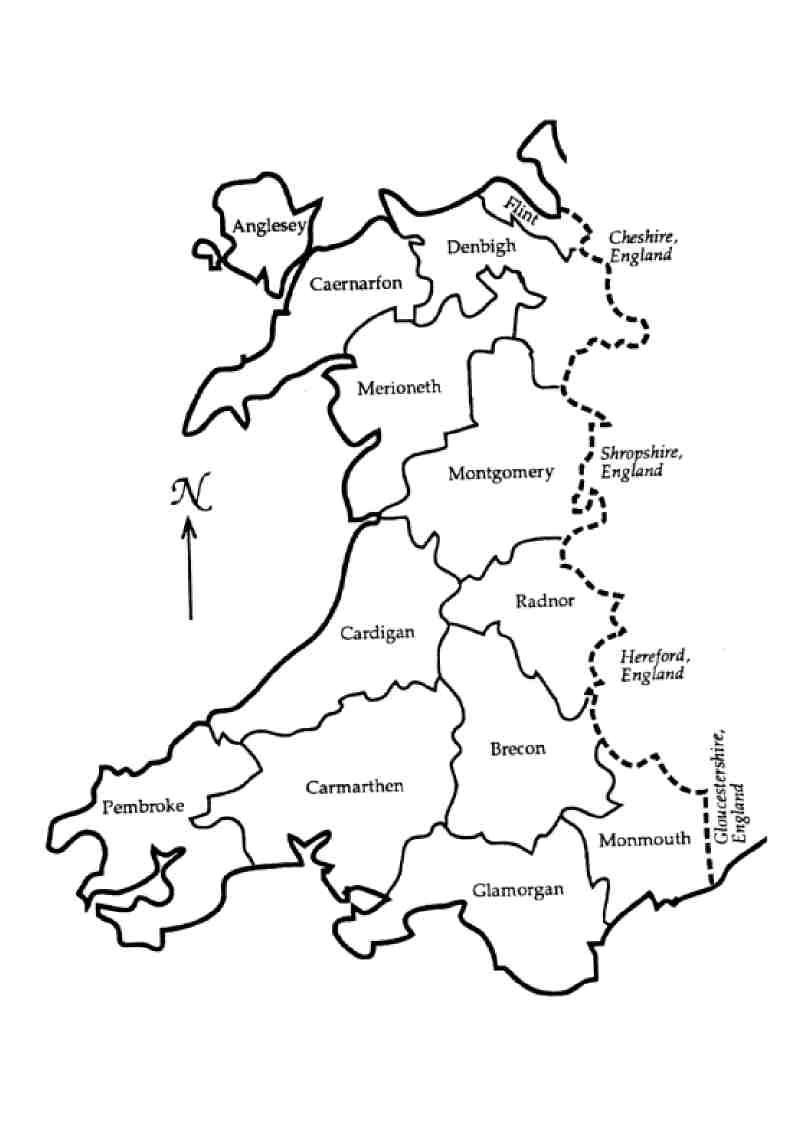 Welsh counties pre 1974